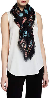 Alexander McQueen Multicolored Box Skull Scarf