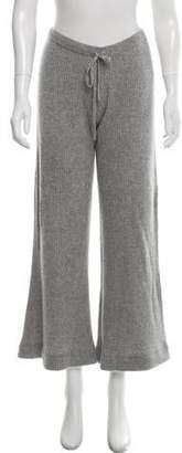 Madeleine Thompson Cashmere Mid-Rise Wide-Leg Pants