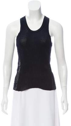Jean Paul Gaultier Sleeveless Scoop Neck Top