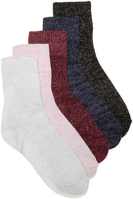 Mix No. 6 Metallic Ankle Socks - 5 Pack - Women's
