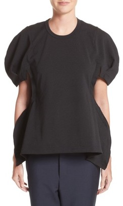 Women's Comme Des Garcons Puff Sleeve Jersey Tee $380 thestylecure.com