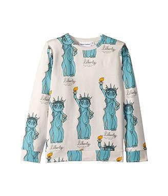 Mini Rodini Liberty All Over Print Long Sleeve Tee (Infant/Toddler/Little Kids/Big Kids)