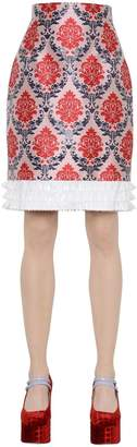 Mary Katrantzou Damask Lurex & Silk Jacquard Skirt