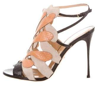Sergio Rossi Essence Caged Sandals w/ Tags