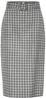 Altuzarra Checked wool-blend skirt