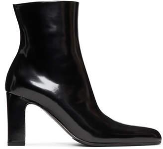 Balenciaga Black Round Boots