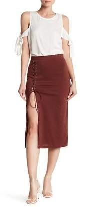 FAVLUX Front Lace-Up Skirt