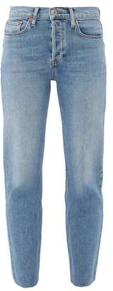 RE/DONE Stove Pipe High Rise Straight Leg Jeans - Womens - Denim