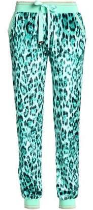 Roberto Cavalli Leopard-Print Chenille Track Pants