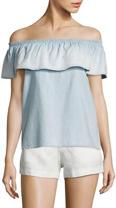 Joie Women's Vilma Chambray Off-The-Shoulder Top