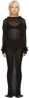 Ann Demeulemeester Black Mohair Ashgate Turtleneck Dress