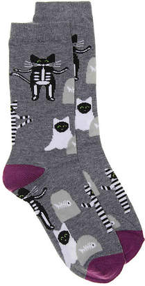 K. Bell Spooky Cats Crew Socks - Women's