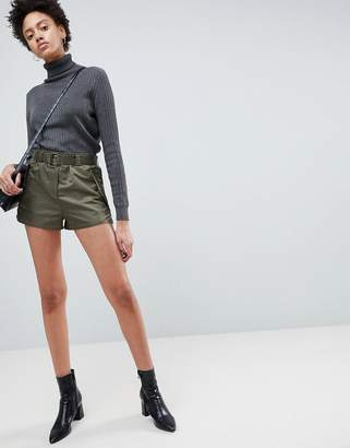 Asos Design DESIGN belted runner shorts in sporty nylon
