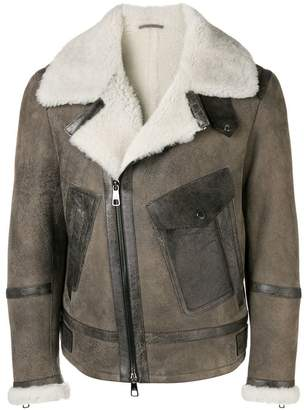 Neil Barrett fur-lined jacket