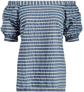 Ralph Lauren Lauren Striped Off-The-Shoulder Top $89.50 thestylecure.com