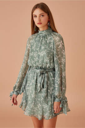 Keepsake CHESHIRE LONG SLEEVE DRESS sage floral
