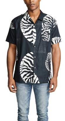 Double Rainbouu Beach House Short Sleeve Shirt