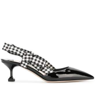 Miu Miu gingham detail pumps