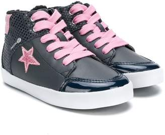 Geox Kids star lace up sneakers