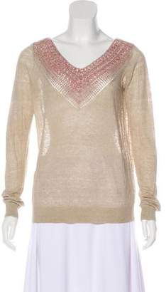 Theyskens' Theory Long Sleeve Linen Top w/ Tags