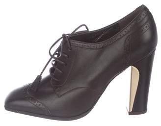 Salvatore Ferragamo Leather Brogue Booties