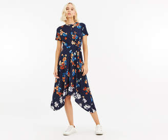 Oasis PRINT HANKY HEM DRESS