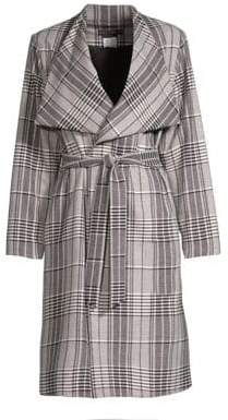 Alice + Olivia Ginny Plaid Wrap Jacket