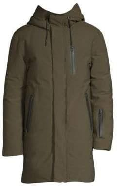 Mackage Men's Hooded Down Coat - Army - Size 42
