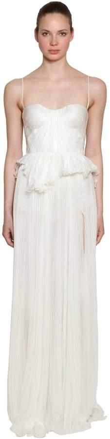 Off The Shoulder Silk Long Dress
