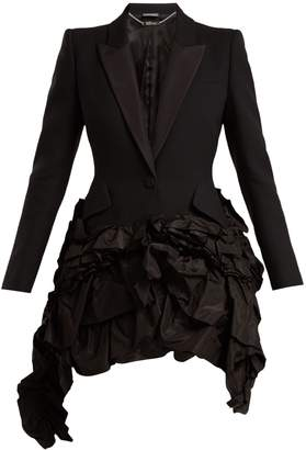 Alexander McQueen Notch-lapel single-breasted ruffle jacket