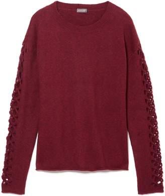 Vince Camuto Lattice Cutout-sleeve Sweater