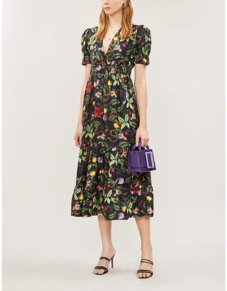 Borgo de Nor Lucia floral ruched-waist silk dress