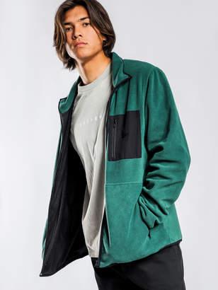 Stussy International Polar Fleece Zip Jacket in Green