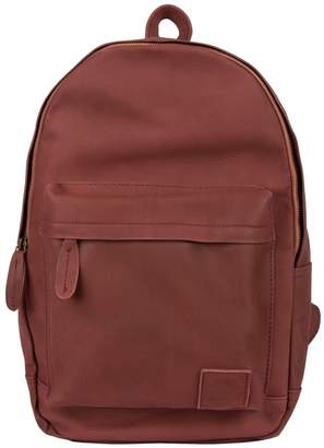 MAHI Leather - Leather Classic Backpack Rucksack In Vintage Maroon