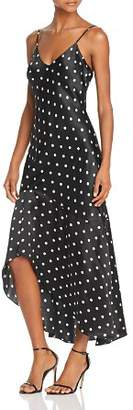 CAMI NYC Sandra Polka Dot Silk Slip Dress