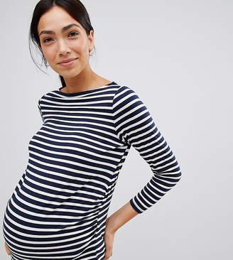 6b1abb14049 Asos DESIGN Maternity Stripe Slouchy Long Sleeve T-Shirt
