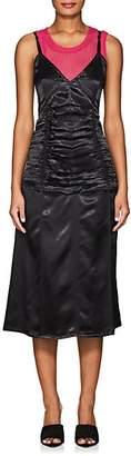 Helmut Lang Women's Ruched Satin Slipdress - Black