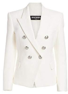 a757039e Balmain Women's Double Breasted Cotton Blazer