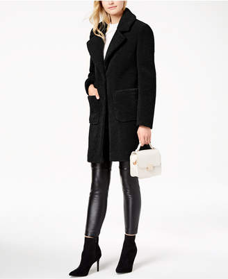 French Connection Faux-Fur Walker Teddy Coat