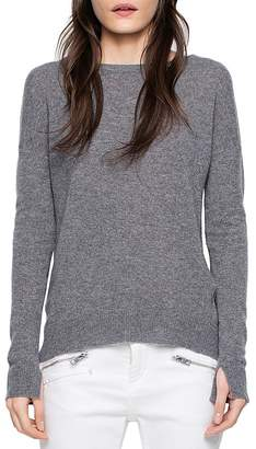 Zadig & Voltaire Cici Patched Cashmere Sweater $368 thestylecure.com