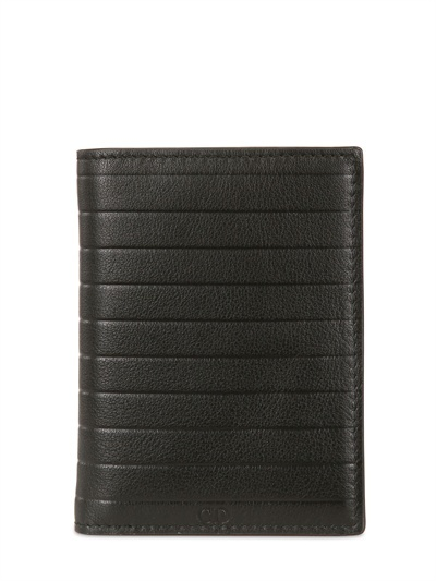 Christian Dior Pleated Soft Leather Compact Wallet