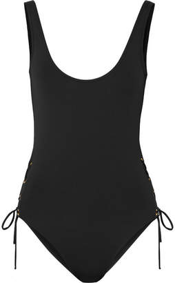 Melissa Odabash Venice Lace-up Swimsuit - Black