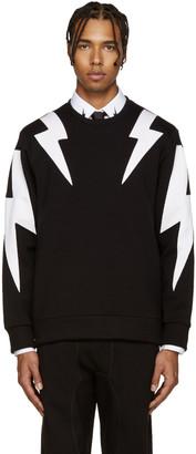 Neil Barrett Black & White Thunderbolt Pullover $545 thestylecure.com