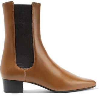 The Row British Leather Chelsea Boots - Tan