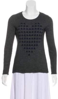 Neiman Marcus Cashmere Intarsia Sweater navy Cashmere Intarsia Sweater