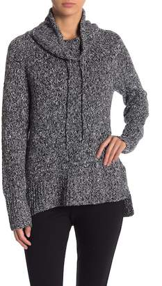 Jones New York Marled Knit Cowl Neck Pullover