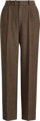 Ralph Lauren Bernette Straight Leg Pleated Pant