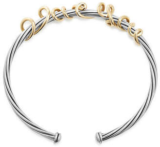 David Yurman I Love You Wire Message Bracelet