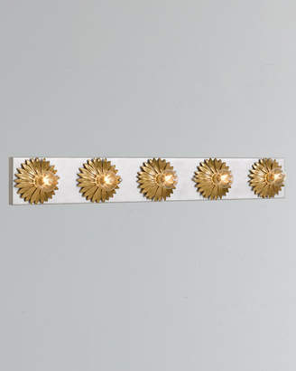 Broche 5-Light Antiqued Gold and Silver Bathroom Vanity