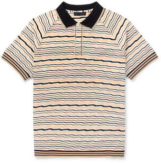 Prada Striped Cotton Polo Shirt